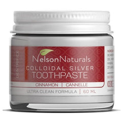 Nelson Naturals Colloidal Silver Remineralizing Toothpaste Cinnamon 60ml