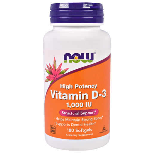 NOW VITAMIN D3 1000 IU 360 SOFTGELS