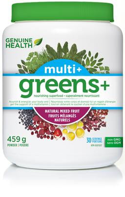 Genuine Health Greens+ Multi+ Natural Mixed Fruit 459g