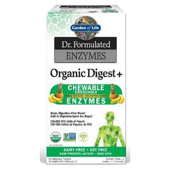 Garden of Life Dr. Formulated Enzymes Organic Digest Tropical Fruit Flavour 90 Chewables