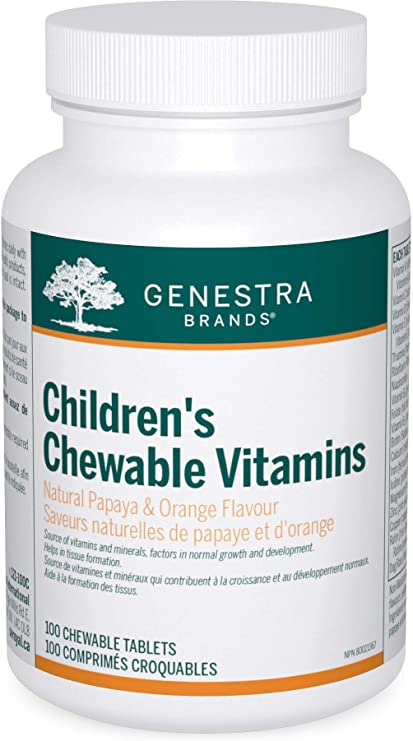 Genestra Children's Chewable Vitamins Papaya & Orange Flavour 100 Chewable Tablets