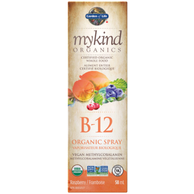 Garden of Life MyKind Organics Vitamin B-12 Organic Raspberry Spray 58ml