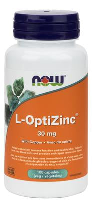 NOW Opti-L-Zinc (Monomethionine) 30mg + Copper 100 V-Caps