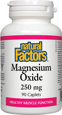 Natural Factors Magnesium Oxide 250 mg 90 Tablets