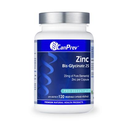 Canprev Zinc Bis-Glycinate 25 120 Vegetable Capsules