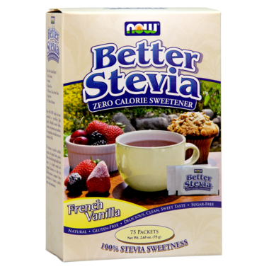 NOW BETTER STEVIA FRENCH VANILLA 75 PACKETS