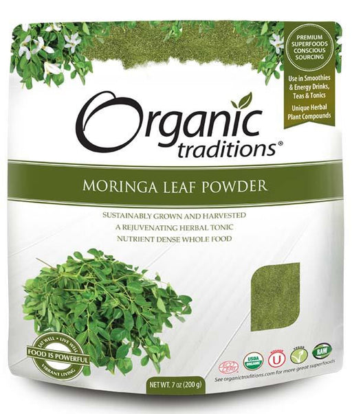 Organic Traditions Moringa Leaf Powder 200 g