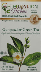 Celebration Herbals Organic Gunpowder Green Tea 70g Bulk