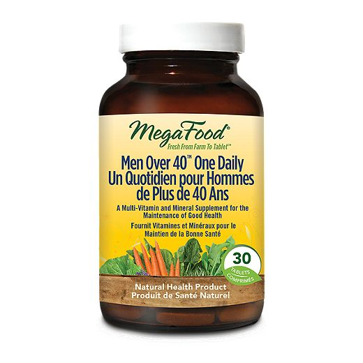 MegaFood Men Over 40 One Daily Multi-Vitamin 30 Tablets