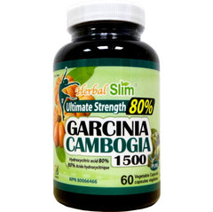 Garcinia Cambogia Extra Strength 80% - 1500mg