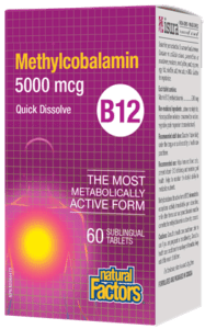 Vitamin B12 Methylcobalamin 5000mcg Chewable