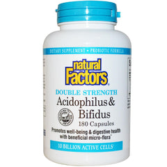 Acidophilus & Bifidus Double Strength 10 Billion Active Cells.