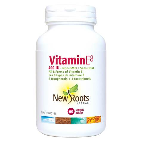 New Roots VITAMIN E8 400 I.U. NON GMO