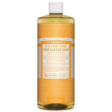 Dr. Bronner's Organic Pure Castile Liquid Soap Citrus Orange