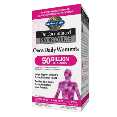 Garden of Life Dr. Formulated Probiotics Once Daily Women's Shelf Stable 30 Veggie Capsules
