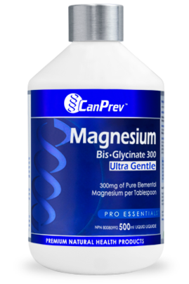 CanPrev Magnesium Bis-Glycinate 300 Ultra Gentle Liquid