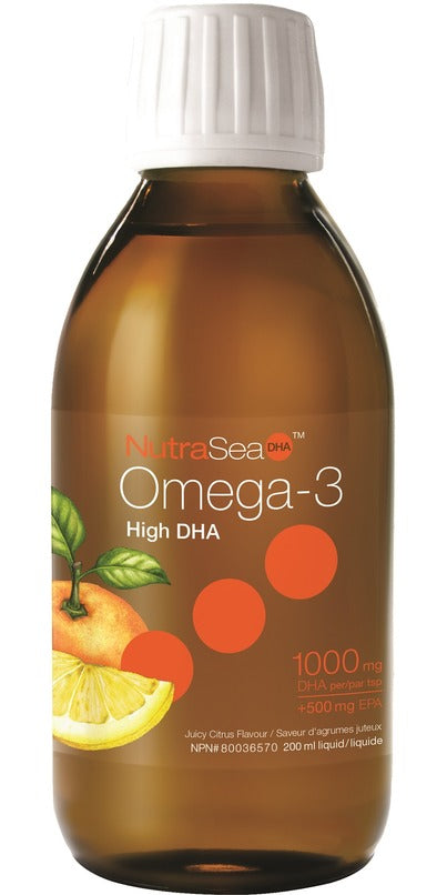 Ascenta NutraSea Omega-3 High DHA (Juicy Citrus) 200 ml