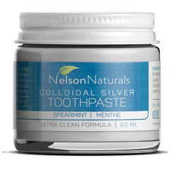 Nelson Naturals Colloidal Silver Remineralizing Toothpaste Spearmint 60ml