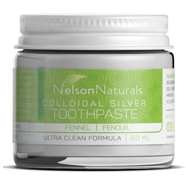 Nelson Naturals Colloidal Silver Remineralizing Toothpaste Fennel 60ml