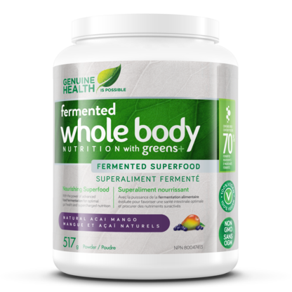 Genuine Health Greens+ Whole Body Nutrition Fermented Superfood