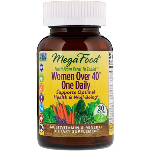 MegaFood Women Over 40 One Daily Multi-Vitamin 30 Tablets