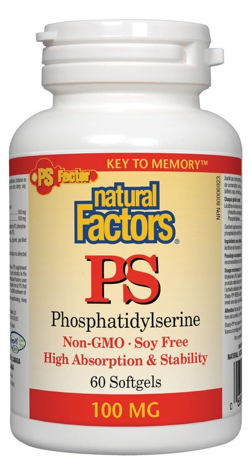 Natural Factors Phosphatidylserine 100mg