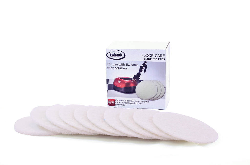 Bulk Pack - White Scouring Pads for the Ewbank EP170, EPV1100, FP160, and FP1000 Floor Polishers