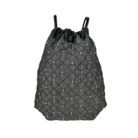 Anna Club Backpack - Quilted Diamond Stud Denim