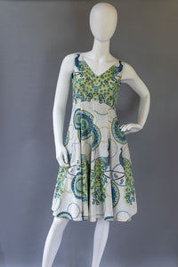 Peacock Flare Dress by Liv McClintock