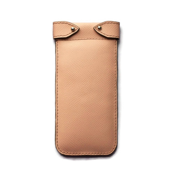Belted Soft Touch Glasses Case - Peach