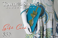 Town & Shore Handcrafted Gift Card . Made In USA Luxury Leather Goods