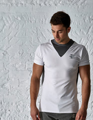 PREDACORE ASPECT T-SHIRT - WHITE/GRAPHITE