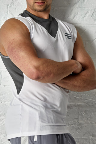 PREDACORE ASPECT TANK - WHITE/GREY