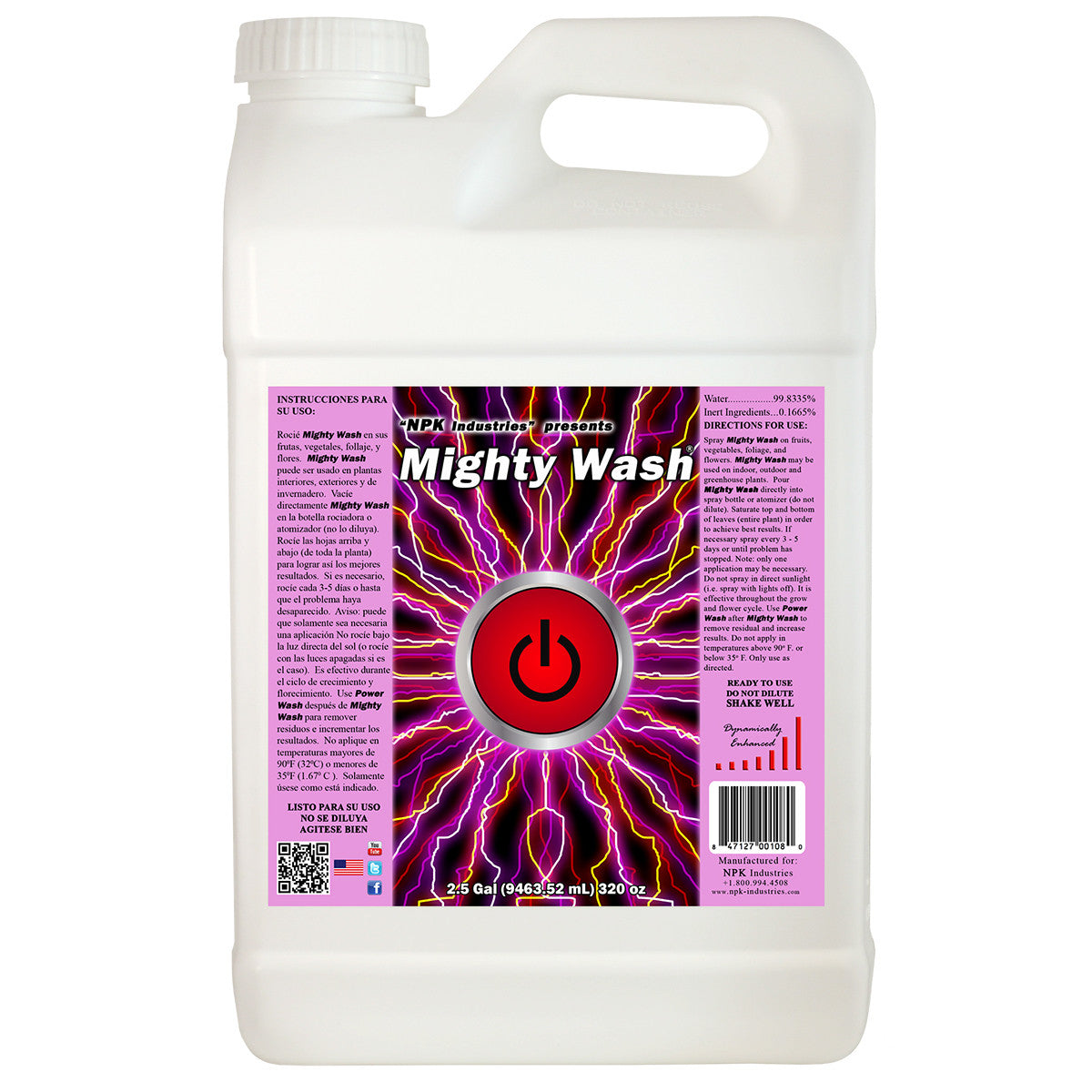 Mighty Wash 2.5 Gallon NPK Industries - Pacific Coast Hydroponics Los Angeles