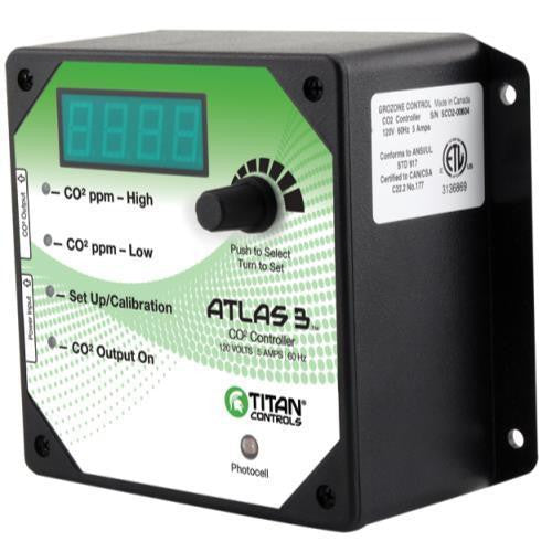 Titan Atlas 3 CO2 Controller Titan - Pacific Coast Hydroponics Los Angeles
