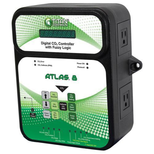 Titan Atlas 8 CO2 Controller W/ Fuzzy Logic Titan - Pacific Coast Hydroponics Los Angeles