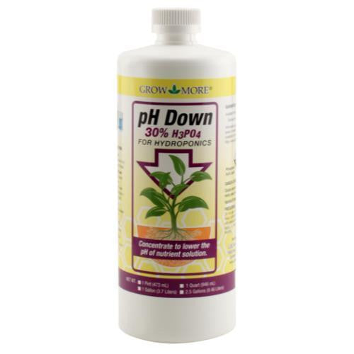 pH Down Quart Grow More - Pacific Coast Hydroponics Los Angeles