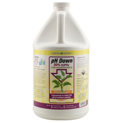 pH Down Gallon Grow More - Pacific Coast Hydroponics Los Angeles