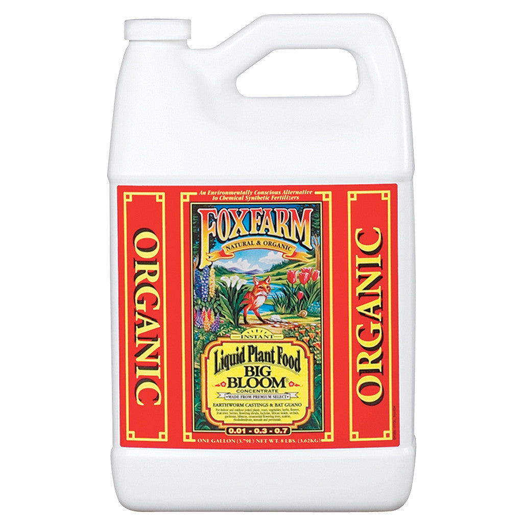Big Bloom Liquid Concentrate, 1 Gallon FoxFarm - Pacific Coast Hydroponics Los Angeles
