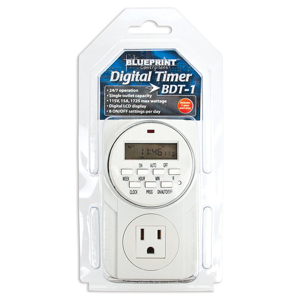 Digital 110 Volt Timer Blueprint Controllers - Pacific Coast Hydroponics Los Angeles