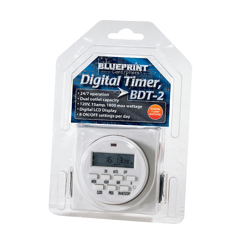 Timer Digital Dual 110 volt Blueprint Controllers - Pacific Coast Hydroponics Los Angeles