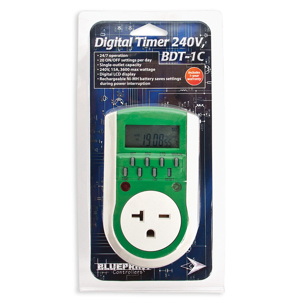 Digital 240 Volt Timer Blueprint Controllers - Pacific Coast Hydroponics Los Angeles