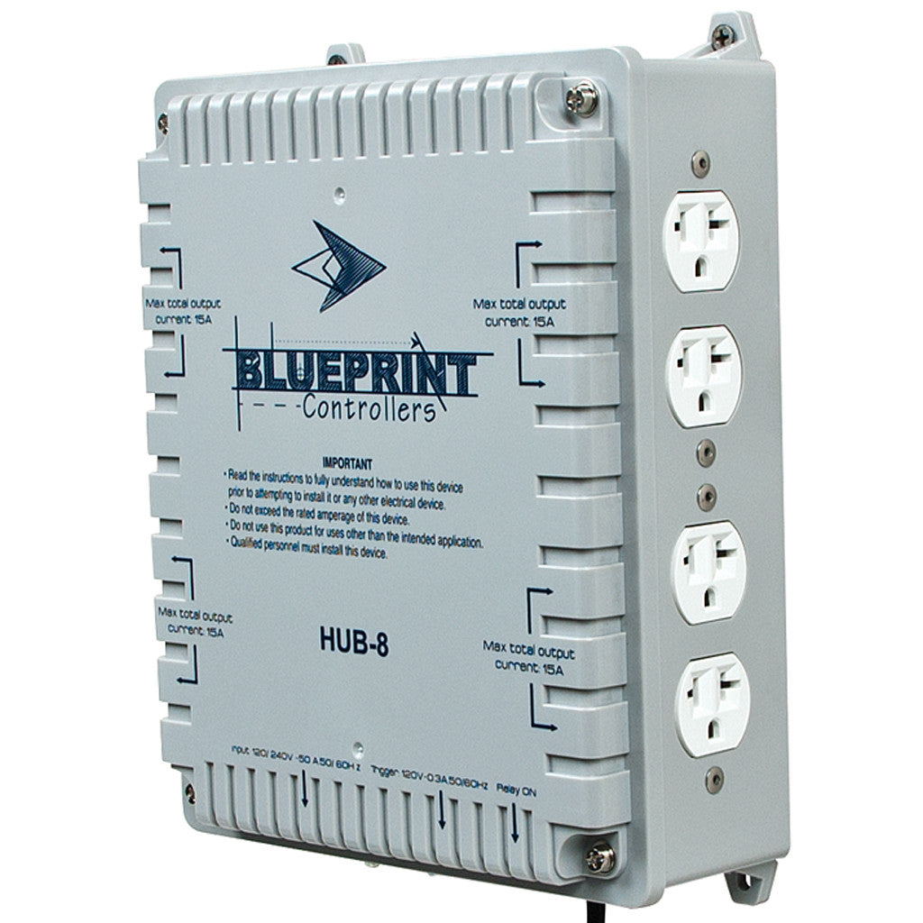 8 Light Controller Blueprint Controllers - Pacific Coast Hydroponics Los Angeles