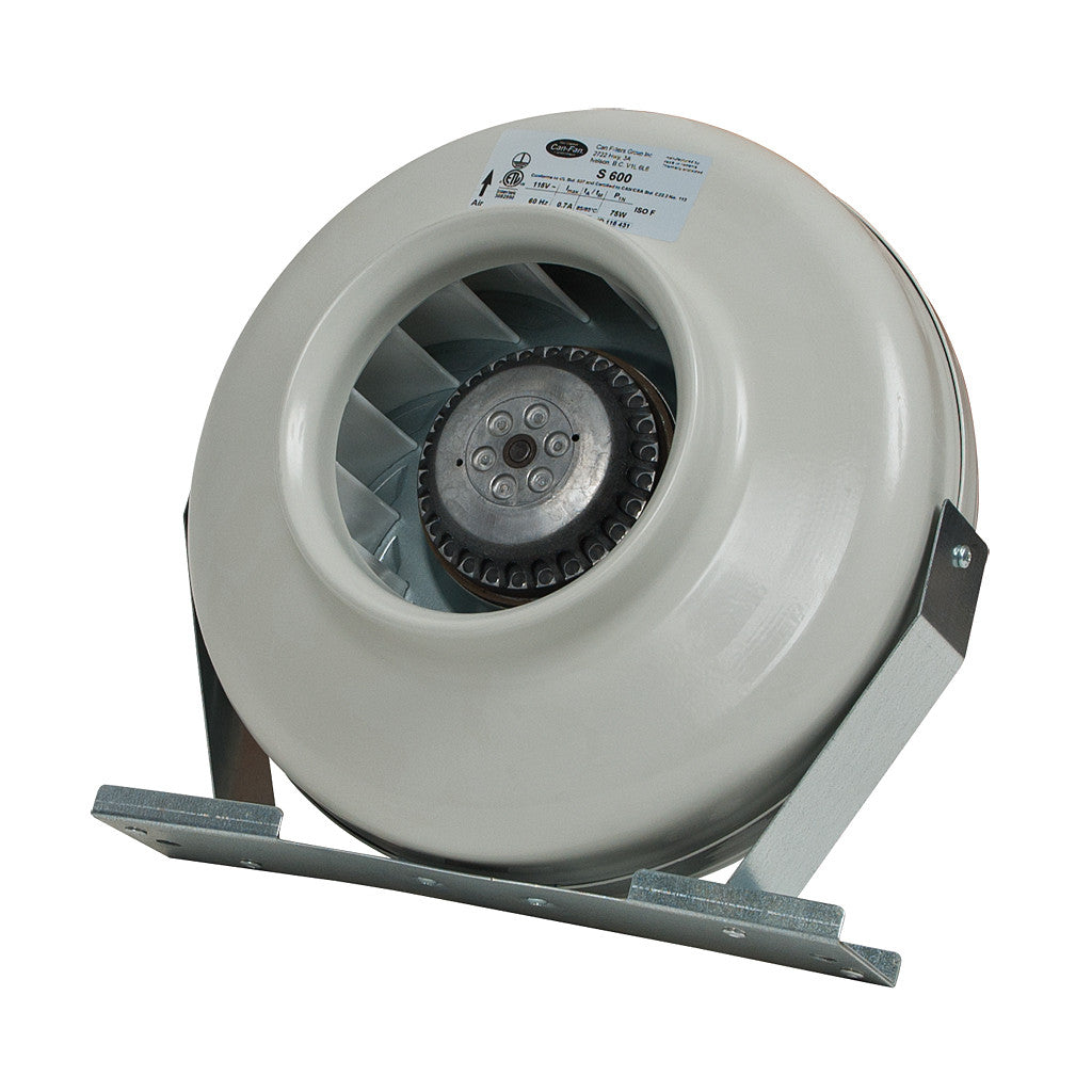 CAN FAN S600 269 CFM, 6 inch Can Fans & Filters - Pacific Coast Hydroponics Los Angeles