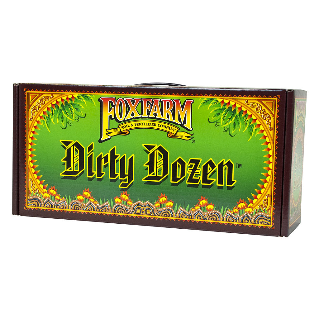 Dirty Dozen Starter Kit, pack of 9 Pints and 3 6 Ounce FoxFarm - Pacific Coast Hydroponics Los Angeles