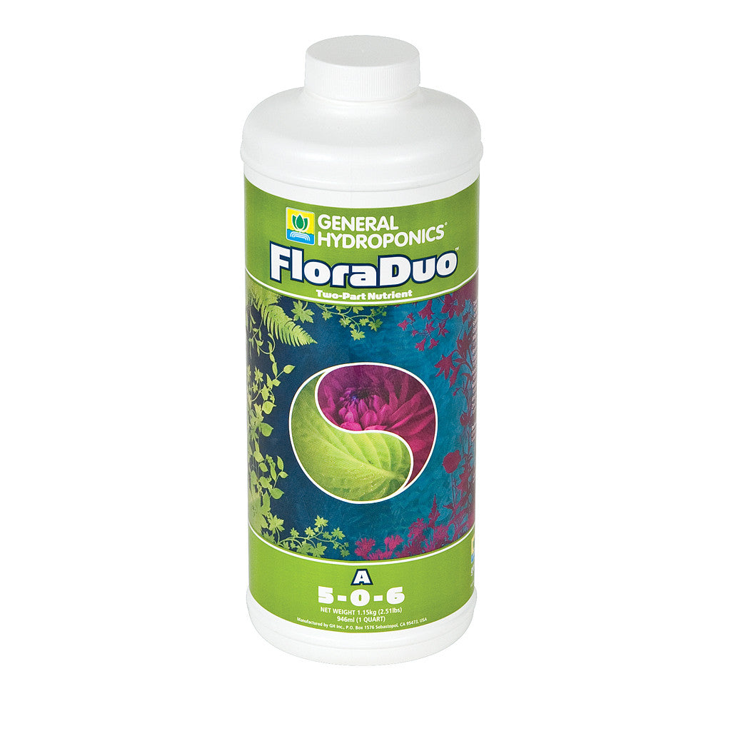 FloraDuo A Quart General Hydroponics - Pacific Coast Hydroponics Los Angeles