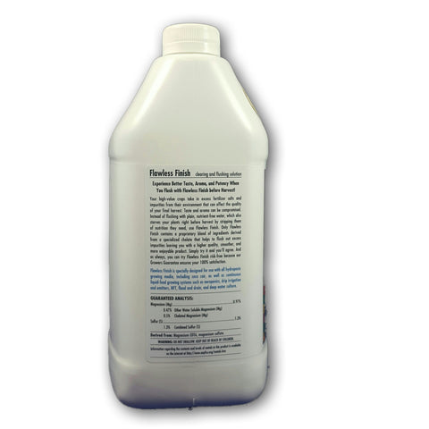 FLAWLESS FINISH 1 GALLON SIDE 1 Advanced Nutrients - Pacific Coast Hydroponics Los Angeles