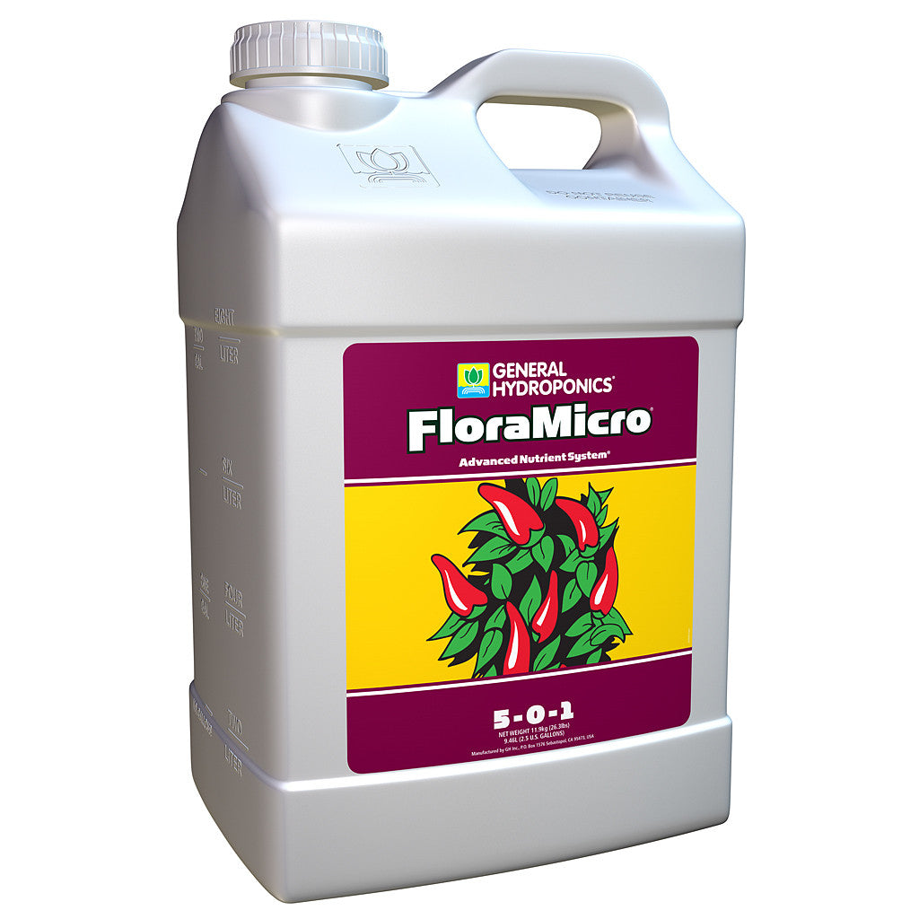 FloraMicro 2.5 Gallon General Hydroponics - Pacific Coast Hydroponics Los Angeles
