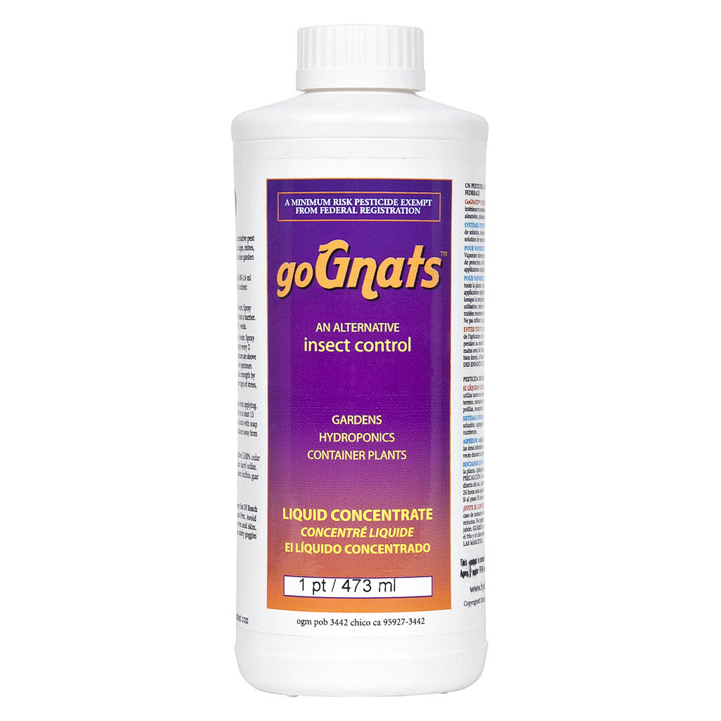 goGNATS Liquid Concentrate, 16 ounce Hydro-Organics - Pacific Coast Hydroponics Los Angeles
