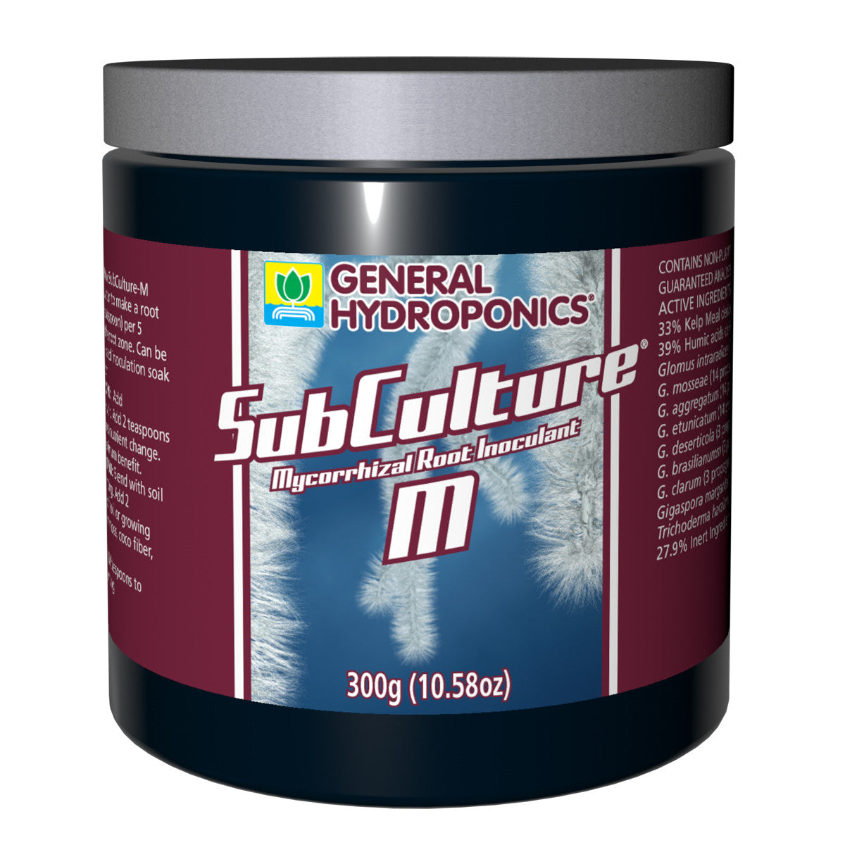 Subculture M 300g Jar General Hydroponics - Pacific Coast Hydroponics Los Angeles